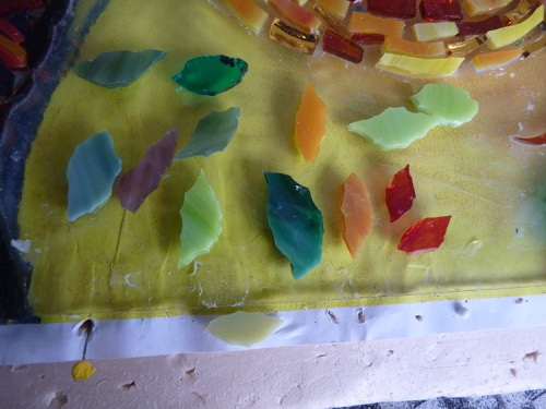 Shaping the leaves from glass